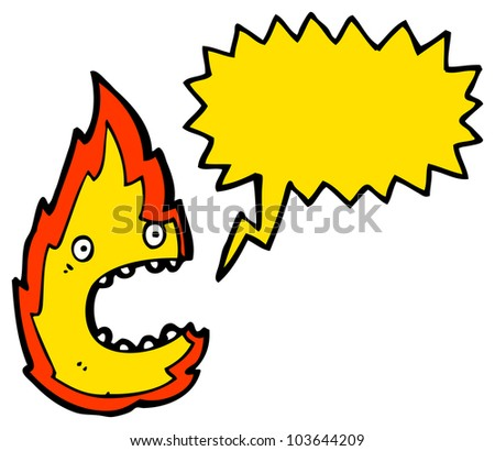 cartoon fire character - stock photo