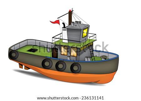 cartoon fishing boat stock illustration 236131141 shutterstock rh shutterstock com cartoon man fishing in boat funny cartoon fishing boat