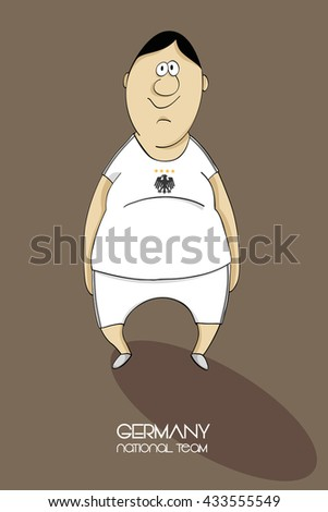 Cartoon football player in a jersey of national team of Germany - stock photo