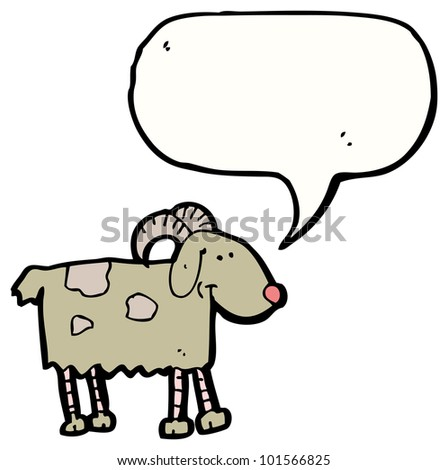 cartoon goat with speech bubble