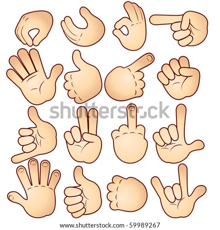 Cartoon Hands collection (version vector id=56993644) - stock photo