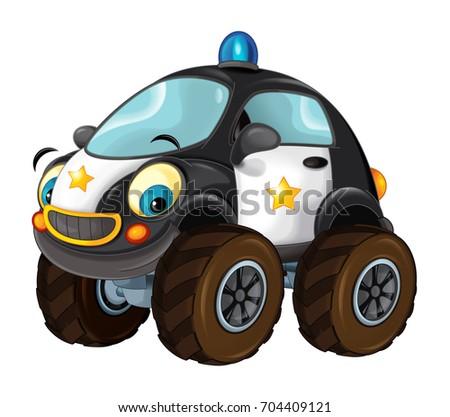 Cartoon Police Car Stock Vector Shutterstock