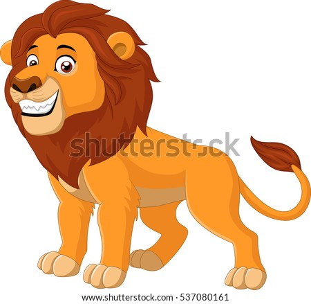 cartoon happy lion
