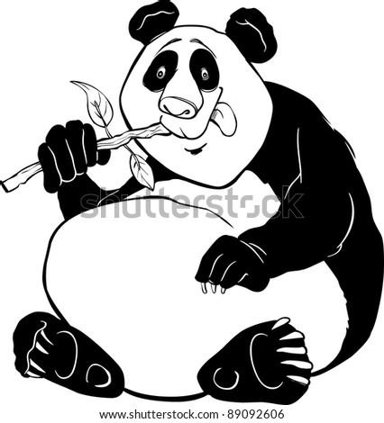 cartoon giant coloring pages | Cartoon Illustration Funny Giant Panda Bear Stock ...