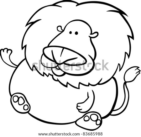 Leo The Lion Coloring Pages Cartoon Illustration of Leo