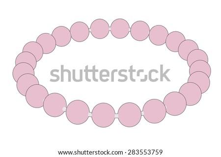 cartoon image of bracelet (jewel) - stock photo
