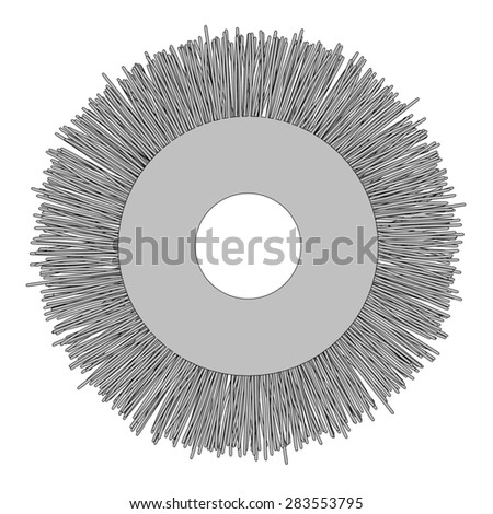 cartoon image of disc for power tools - stock photo