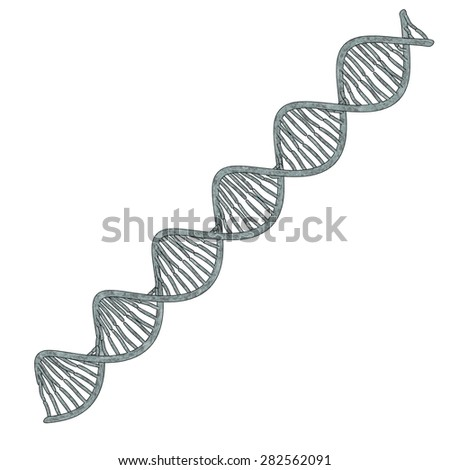 cartoon image of DNA model - stock photo