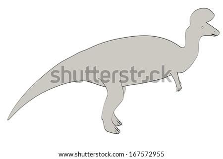 cartoon image of lambeosaurus dino