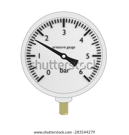 cartoon image of pressure gauge - stock photo