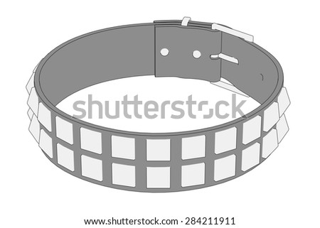 cartoon image of punk necklace - stock photo