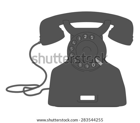 cartoon image of retro telephone - stock photo