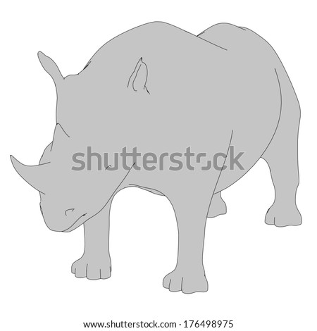 cartoon image of rhino animal