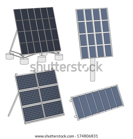 cartoon image of solar panels