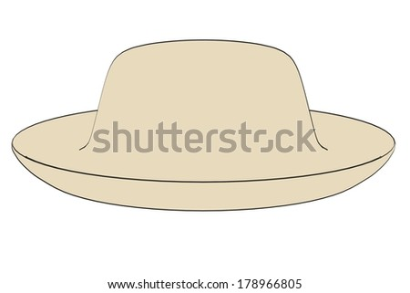 cartoon image of summer hat