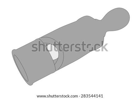 cartoon image of whistle toy - stock photo