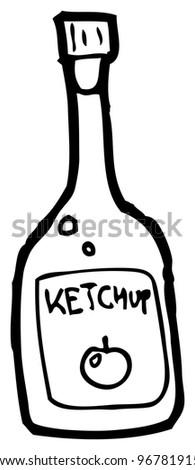 ketchup bottle coloring page - stock images similar to id 94662391 ketchup sachet cartoon