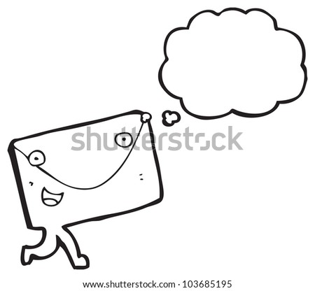 cartoon letter envelope character - stock photo
