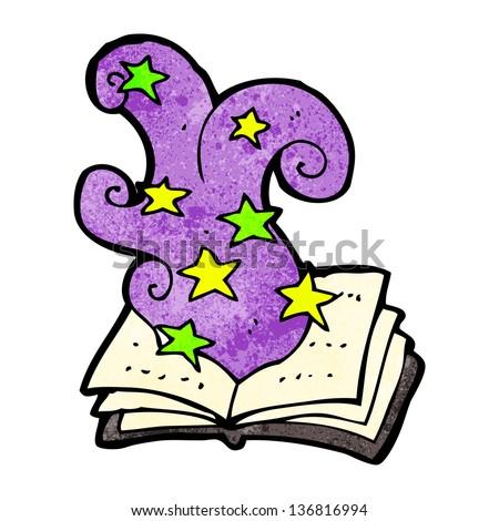 cartoon magic spell book stock illustration 136816994 shutterstock rh shutterstock com