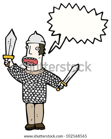 cartoon medieval soldier
