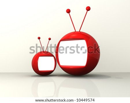 Cartoon monitors - stock photo