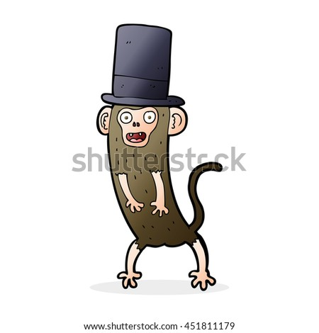 cartoon monkey in top hat
