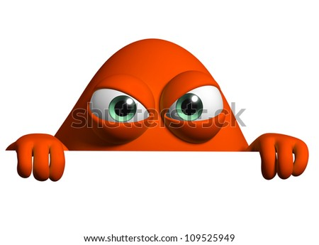 cartoon monster - stock photo