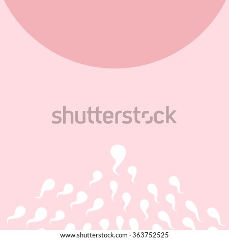 cartoon ovum and sperm, great for Pregnancy Concept - stock photo