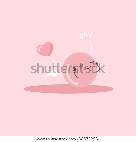 cartoon ovum and sperm with love heart, great for Pregnancy Concept - stock photo