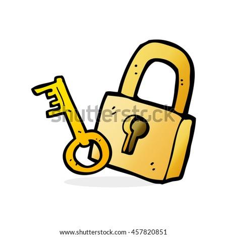Padlock Cartoon Stock Vector 65682502  Shutterstock