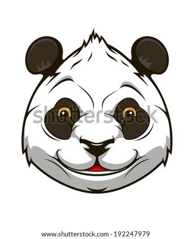 Cartoon panda bear head for mascot  logo design. Vector version also available in gallery - stock photo