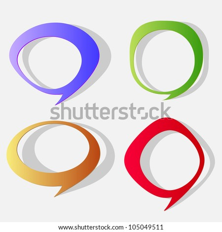Cartoon paper bubbles for speech.Raster version - stock photo