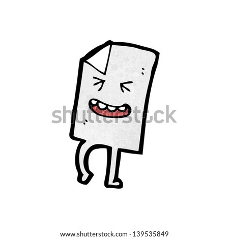 cartoon paper letter character - stock photo