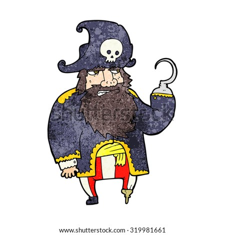 cartoon pirate - stock photo