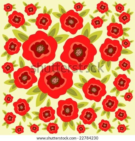 Cartoon poppy flowers on light green stock illustration 22784230 cartoon poppy flowers on a light green background mightylinksfo