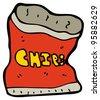 cartoon potato chips bag - stock photo