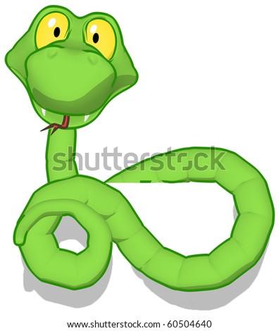 Cartoon snake - stock photo