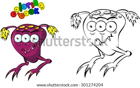 cartoon space monster coloring book - Monster Coloring Book