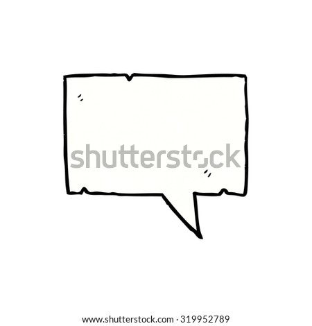 cartoon speech bubble - stock photo