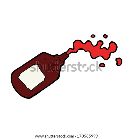 cartoon squirting blood bottle
