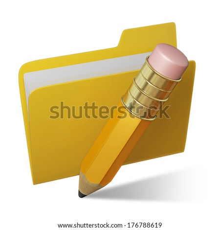 Cartoon style pencil - stock photo