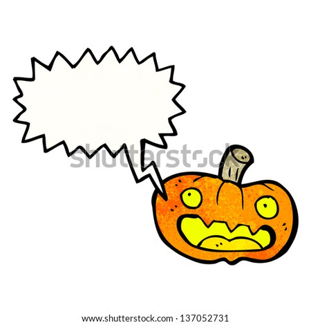 cartoon talking pumpkin