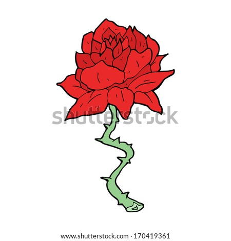 Simple Drawing Line Rose Stock Photos, Illustrations, and Vector Art