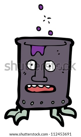 cartoon toxic waste character