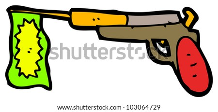 cartoon toy gun - stock photo