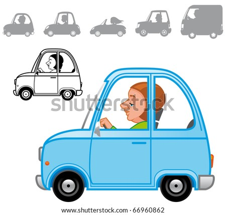 Cartoon vehicles series