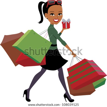 shopping and woman