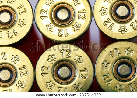 Cartridges of 12th caliber for a hunting rifle . Firearms ammunition