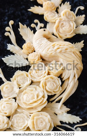 carved cheese - stock photo