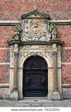 Carved doors  in Frederiksborg castle .